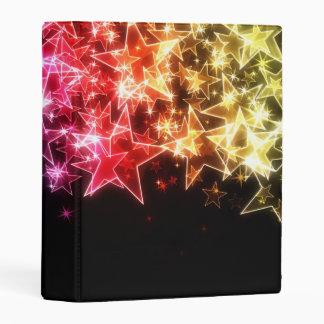 Mini carpeta de las estrellas coloridas