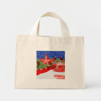 Mini carrying bag with Christmas picture