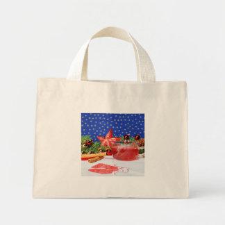 Mini carrying bag with Weinachtlichem motive