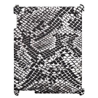 Mini caso #1 de serpiente del iPad negro y blanco