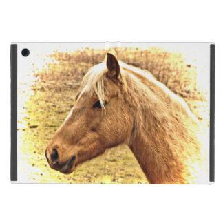 Mini caso de Brown del caballo del iPad animal de iPad Mini Carcasa