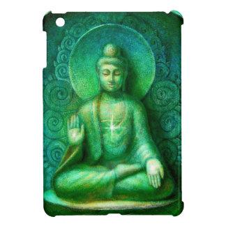 Mini caso de Buda de la meditación del iPad verde iPad Mini Coberturas