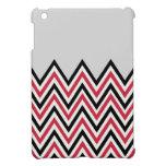 Mini caso de Chevron del iPad rojo y gris del dise iPad Mini Protectores