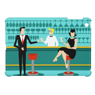 Mini caso de cóctel del iPad retro del salón