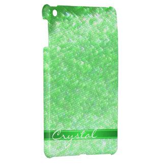 Mini caso de Ipad de la chispa verde de Bokeh iPad Mini Fundas
