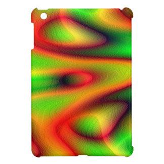 MINI CASO de IPAD - diseño del fractal del rojo an iPad Mini Cárcasas