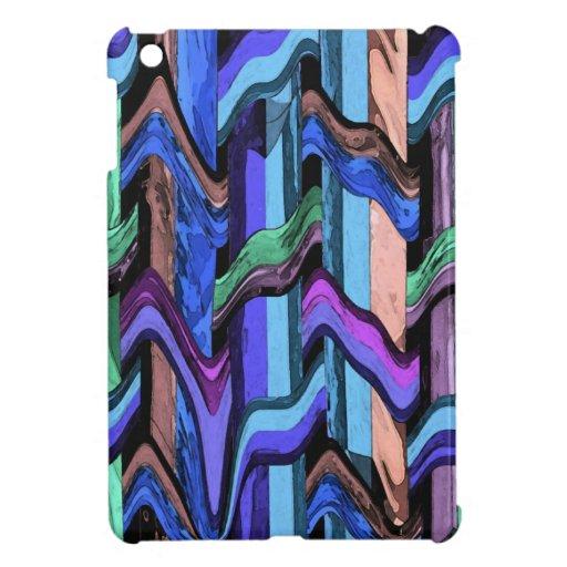 Mini caso de la armadura del iPad ondulado abstrac