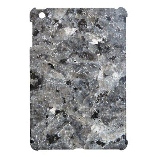 mini caso de la belleza del ipad negro del granito