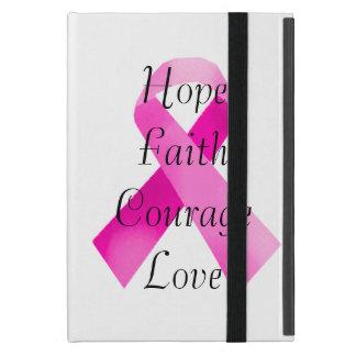 Mini caso de la cinta del iPad rosado de la fe iPad Mini Carcasas