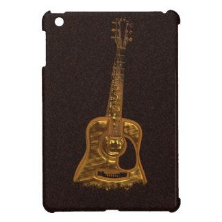 Mini caso de la guitarra de música del iPad de oro