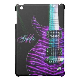 Mini caso de la guitarra del monograma del iPad
