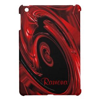 """Mini caso de la """"nebulosa"""" del iPad rojo y negro d iPad Mini Cobertura"""