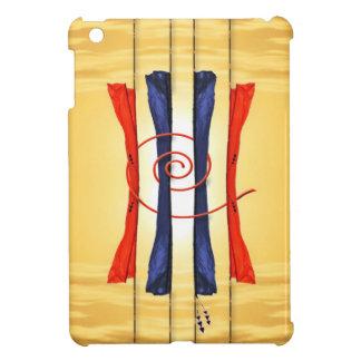 Mini caso de la nube del iPad de oro de las bander