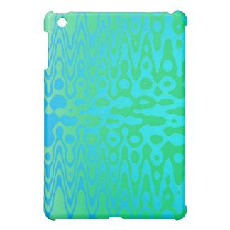 Mini caso de la ondulación del ipad azul y verde
