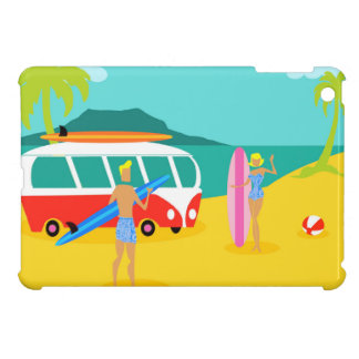 Mini caso de la persona que practica surf del iPad