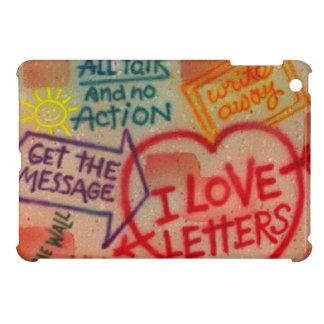 Mini caso de la pintada de amor del iPad retro de  iPad Mini Coberturas