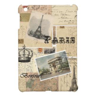 Mini caso de la postal del iPad francés del collag