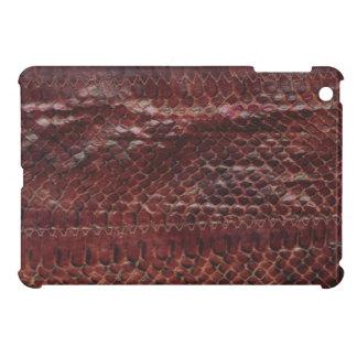 Mini caso de la serpiente del iPad de cuero de la