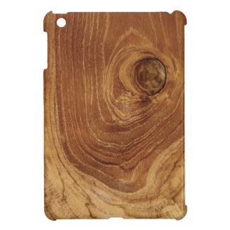 Mini caso de la teca del iPad de madera de madera