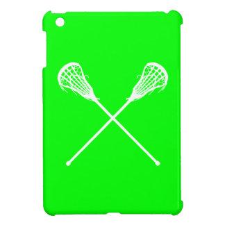 Mini caso de LaCrosse del iPad verde de los palill