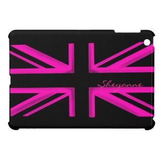 Mini caso de Londres del ipad razberry negro rosad iPad Mini Cárcasa