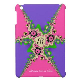 Mini caso de los fractales del iPad púrpura rosado