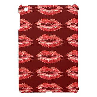 Mini caso de los labios del iPad rojo del beso