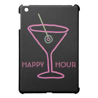 Mini caso de Martini del iPad de neón retro de la