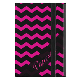 Mini caso de Powis del iPad rosado y negro iPad Mini Carcasas