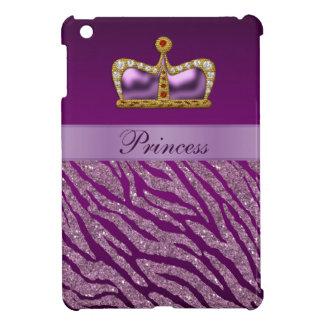 Mini caso de princesa Crown del iPad púrpura del