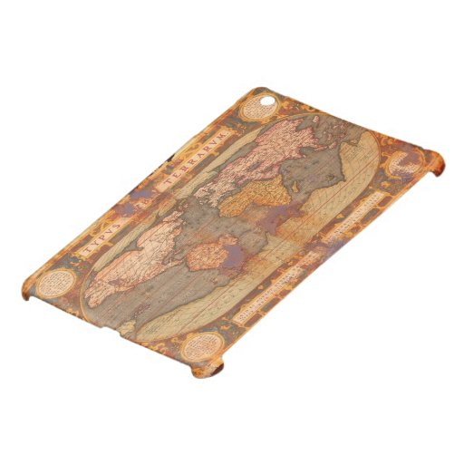 Mini caso de Viejo Mundo del iPad rústico del mapa iPad Mini Fundas