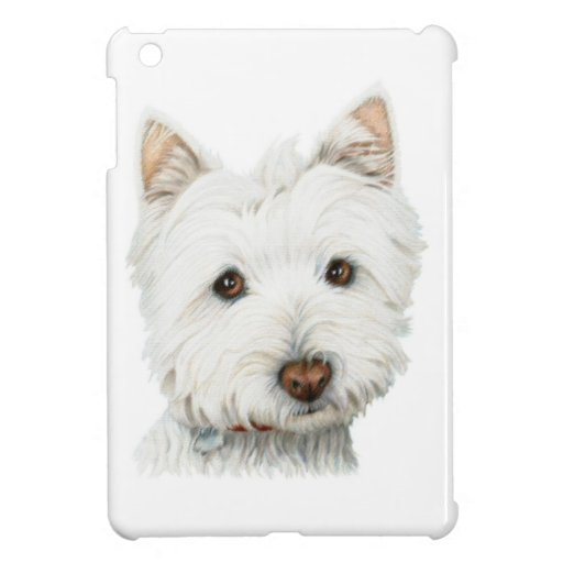 Mini caso de Westie del iPad lindo del perro iPad Mini Cobertura