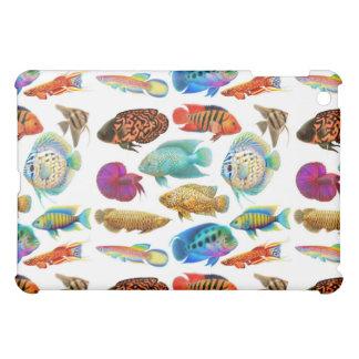 Mini caso del acuario del iPad tropical de los pes