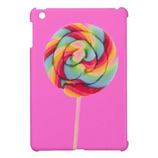 MINI caso del arco iris del caramelo del iPad rosa
