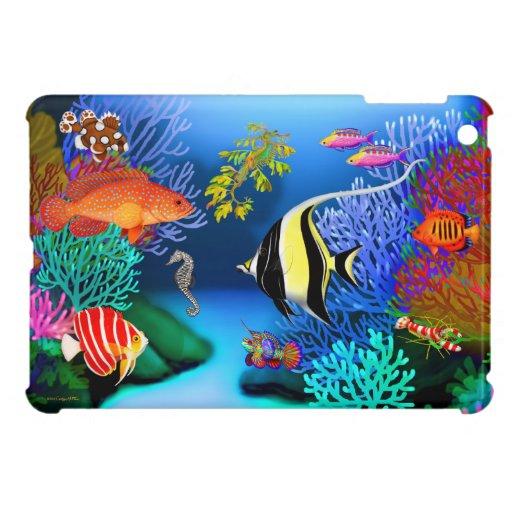 Mini caso del arrecife de coral del iPad pacífico