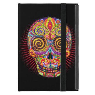 Mini caso del azúcar del iPad colorido del cráneo  iPad Mini Funda
