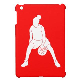 Mini caso del baloncesto del iPad rojo del chica iPad Mini Funda