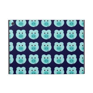Mini caso del cerdo del iPad azul lindo del modelo iPad Mini Carcasas