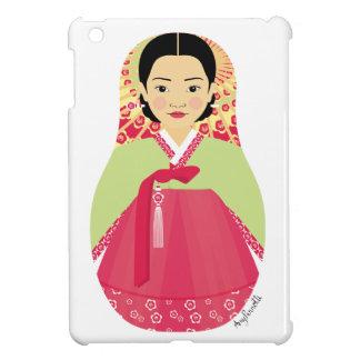 Mini caso del chica del iPad coreano de Matryoshka