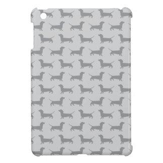 Mini caso del dachshund del perro del iPad gris li iPad Mini Carcasas