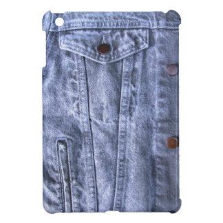 Mini caso del dril de algodón del iPad azul del ~