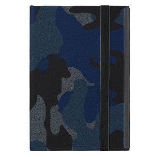 Mini caso del falso del paño iPad azul marino de C