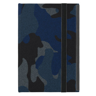 Mini caso del falso del paño iPad azul marino de iPad Mini Cárcasa