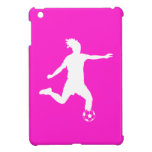 Mini caso del fútbol del iPad rosado de la silueta iPad Mini Protector