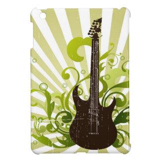 Mini caso del Grunge del iPad verde de la guitarra