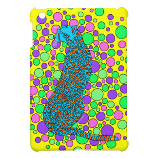 Mini caso del guepardo del iPad colorido del arte