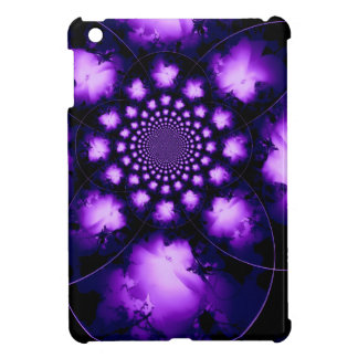 Mini caso del hibisco del iPad violeta del caleido
