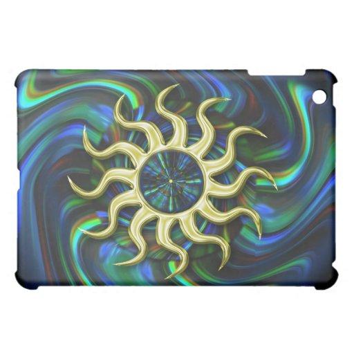 Mini caso del iPad abstracto colorido
