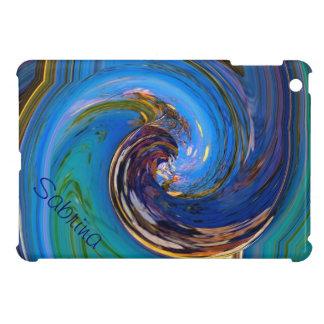 Mini caso del iPad abstracto colorido del pájaro