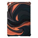 Mini caso del iPad abstracto del naranja y del neg iPad Mini Protectores